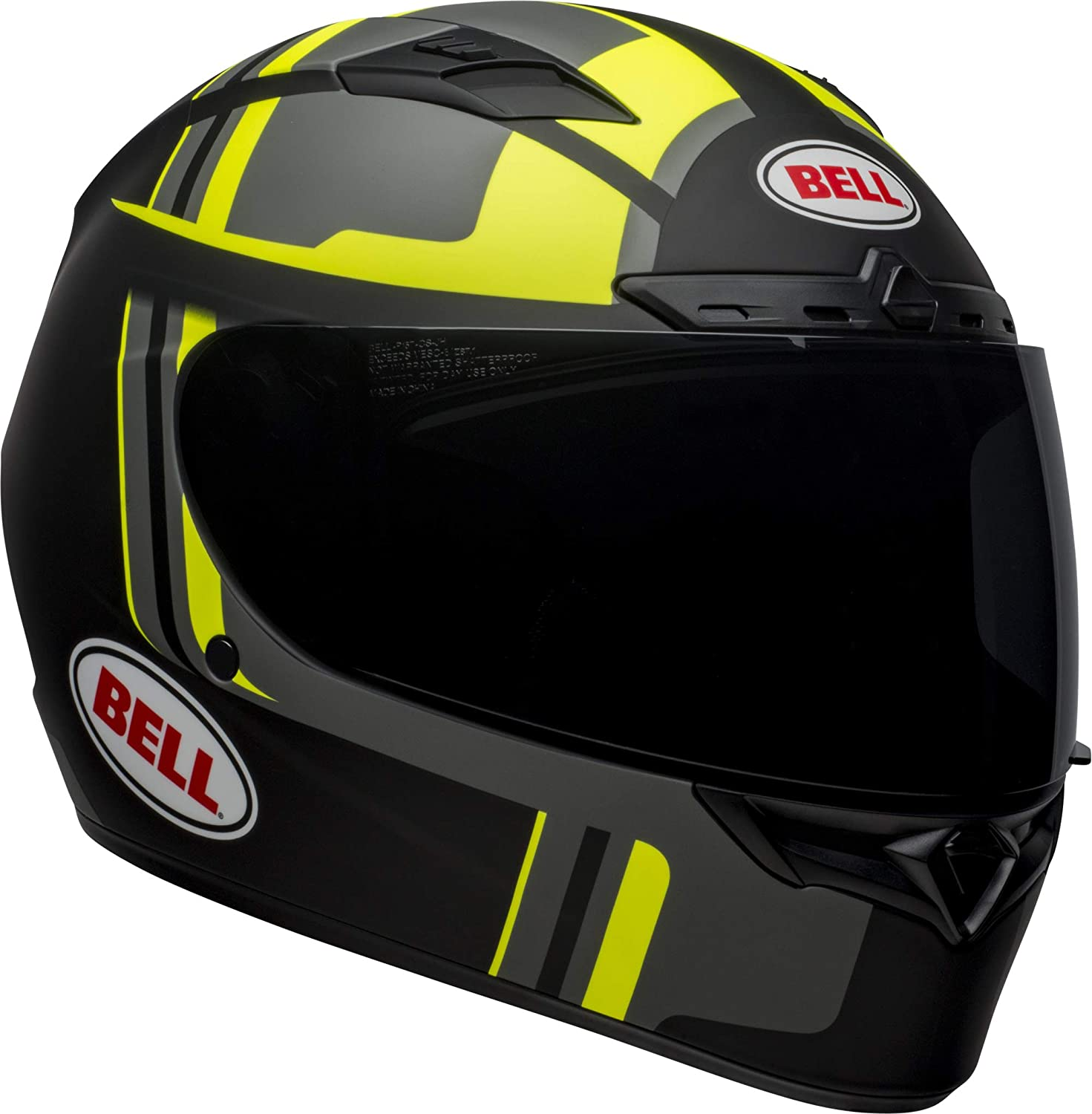 BELL QUALIFIER MOTORCYCLE HELMET TORQUE BLUE YELLOW DOT APPROVED FREE SHIPPING