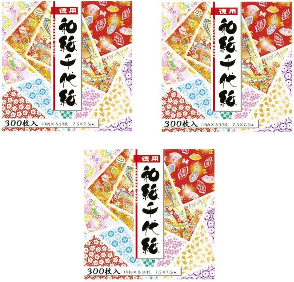 """Pack of 300 Sheets Japanese 3/"""" Origami Artwork Folding Paper Washi Chiyogami Set"""