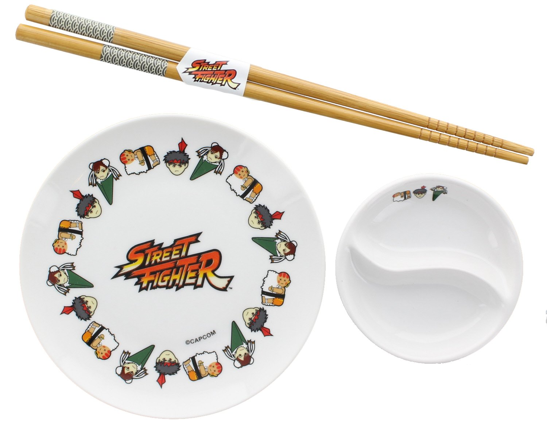 Street Fighter Sushi Set with Chopsticks