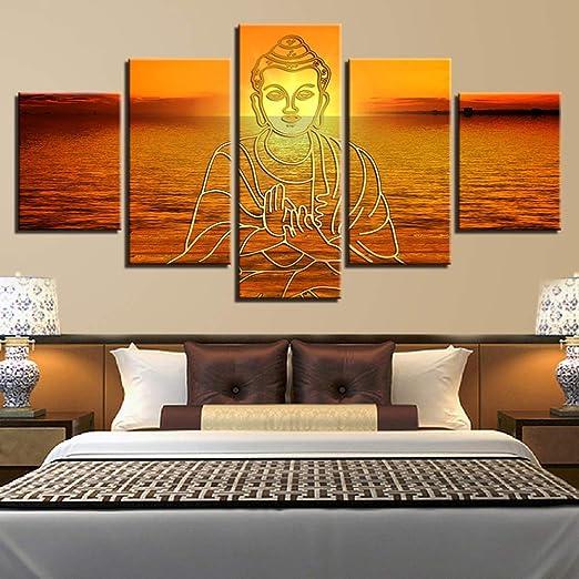 YIWAN Chorro de Tinta de Cinco Patas decoración de Buda Religiosa ...