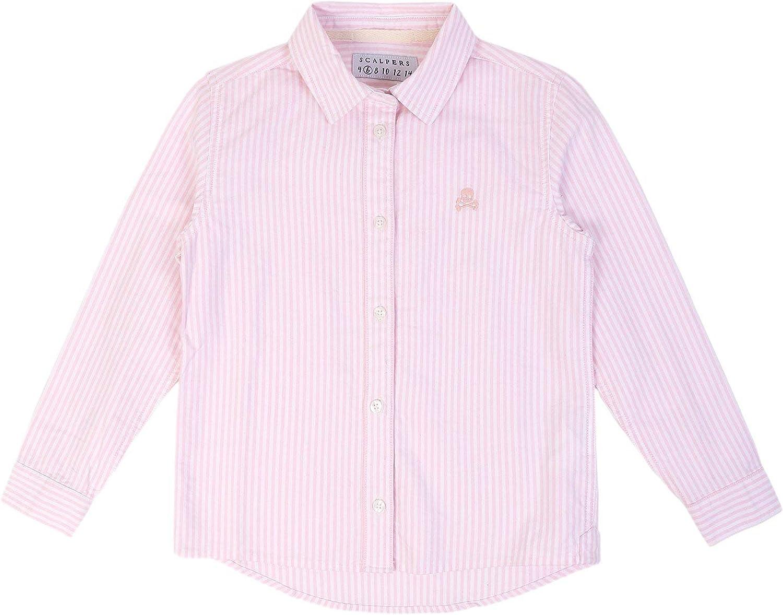 Scalpers Camisa Volante Espalda - Pink Stripes / 8: Amazon.es: Ropa y accesorios