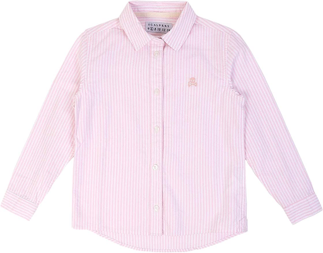 Scalpers Camisa Volante Espalda - Pink Stripes / 8: Amazon.es ...