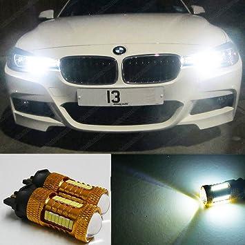 PW24 W 44SMD luces de conducción diurna LED Cree Bombillas Lámparas DRL Xenon ea2r5: Amazon.es: Coche y moto