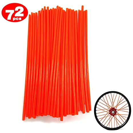 DIXIUZA 72Pcs motocicleta habló pieles cubre ruedas de recorte de la cubierta de la pipa decorativos