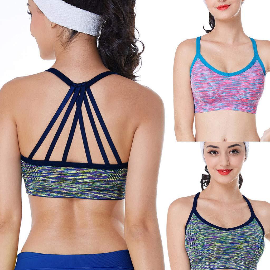 asdkfh Mujer Push Up Sujetador de Yoga Deportivo Sujetador de Talla Grande sin Costuras Sujetadores reductors con Sujetadores b/ásicos para Mujer