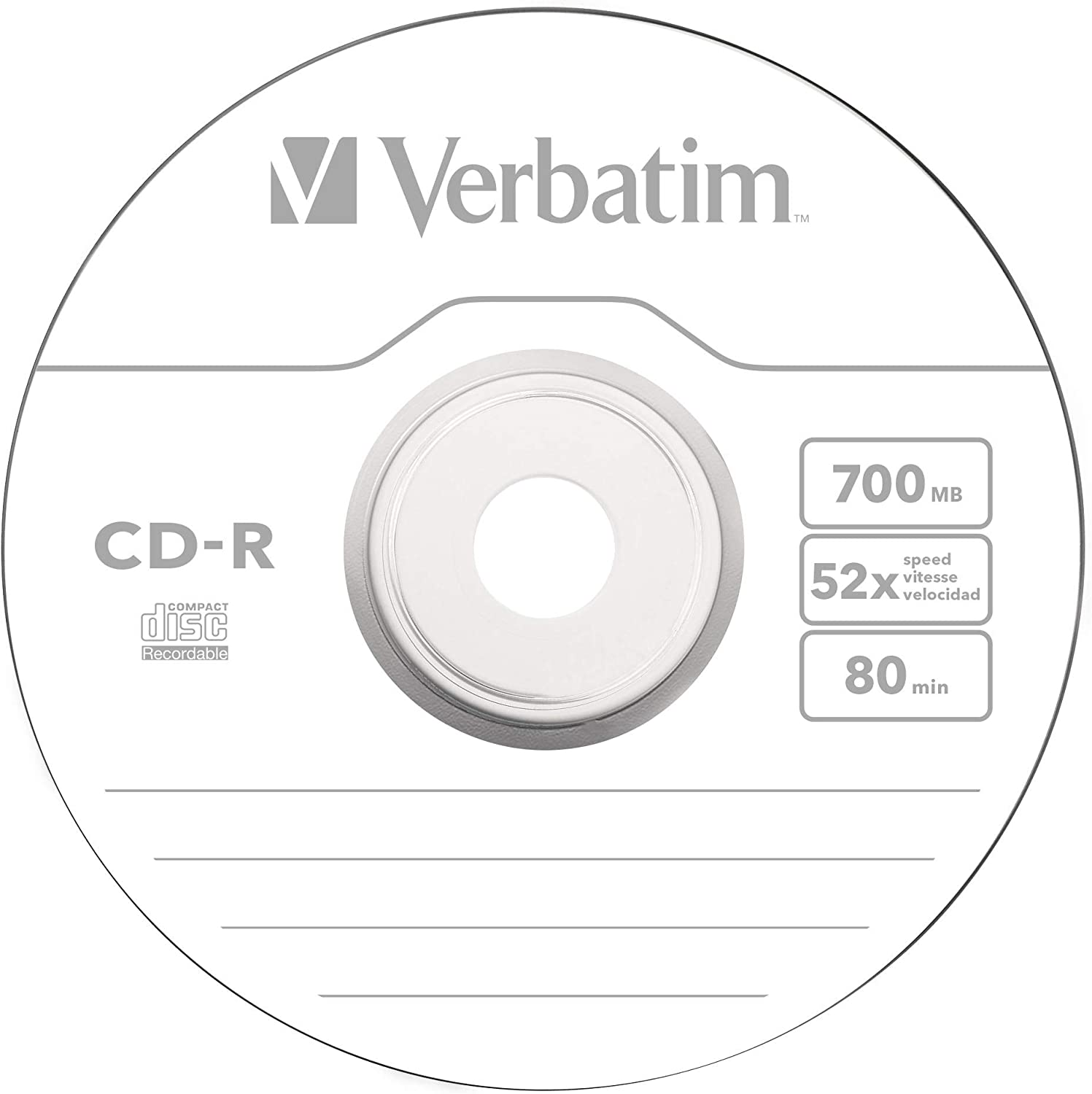 Verbatim 100 X Cd R 700 Mo 80 Min 52x Spindle