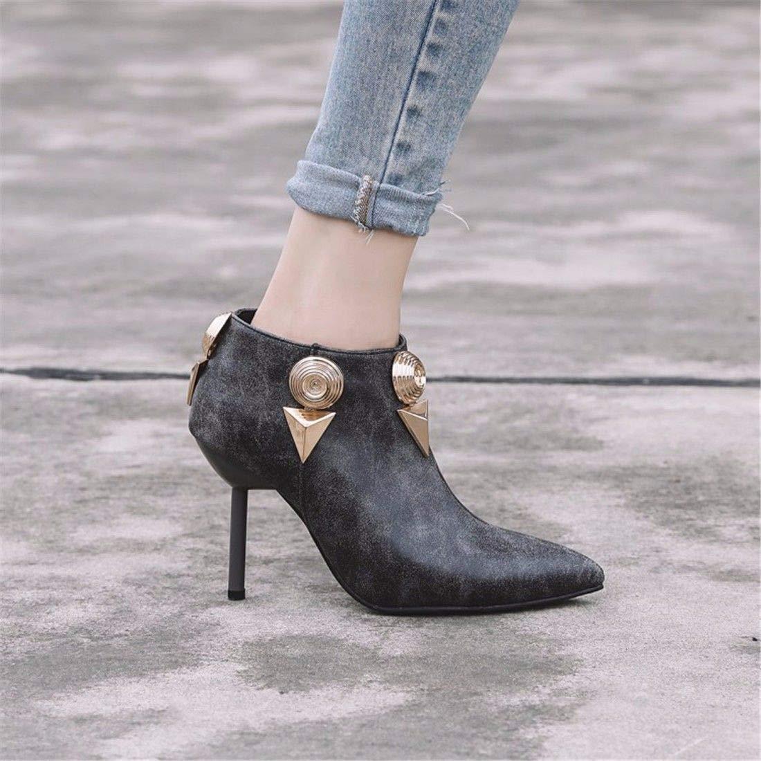AIKAKA Frauen Herbst und Winter Winter Winter Europa und Amerika Sexy warme High Heel Schuhe Kurze Stiefel  73ff74