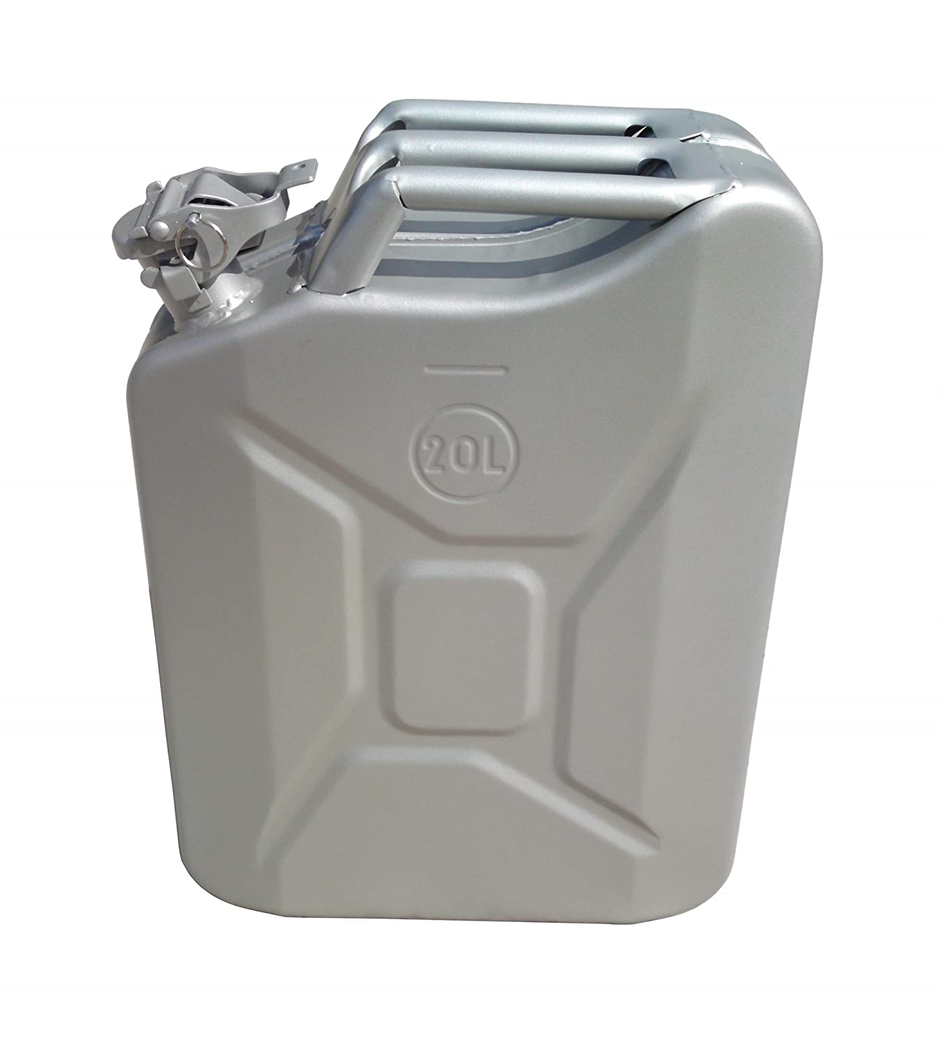 20 Litre Silver Jerry Can for Fuel Petrol Diesel etc ASC