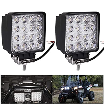 TOP 2X 48W LED WORK LIGHT BAR SPOT BEAM LAMP OFFROAD TRUCK 12V24V SUV ATV Boat