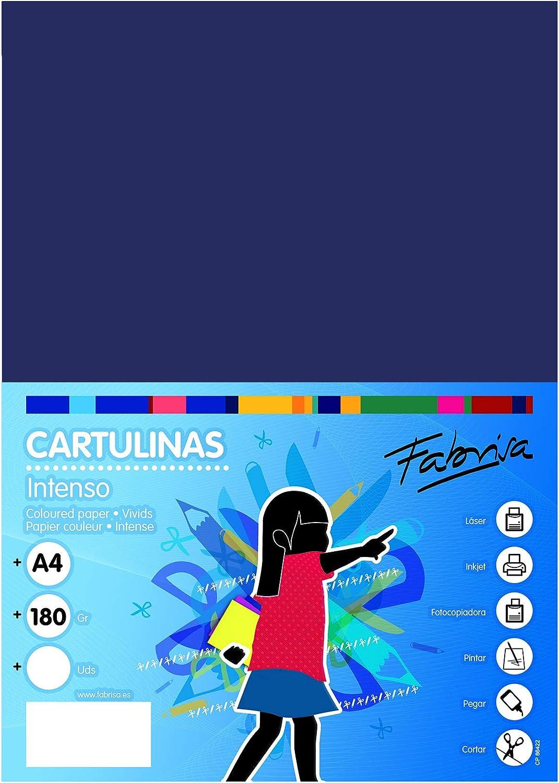 Pack 50 Cartulinas Color Azul Oscuro Tamaño A4 180g: Amazon.es: Oficina y papelería