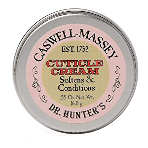 Caswell-Massey Dr. Hunter's Cuticle Cream – Natural Balm Promotes Healthy Nails , Nail Growth - 0.55 Ounces