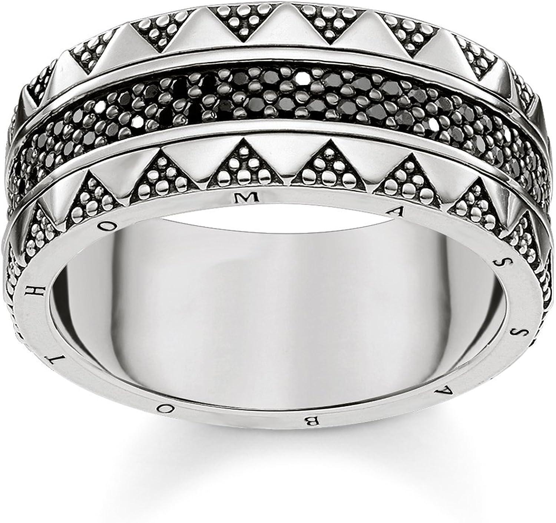 Thomas Sabo Anillo unisex Jeroglíficos ornamentación plata de ley 925 ennegrecido TR2107-643-11