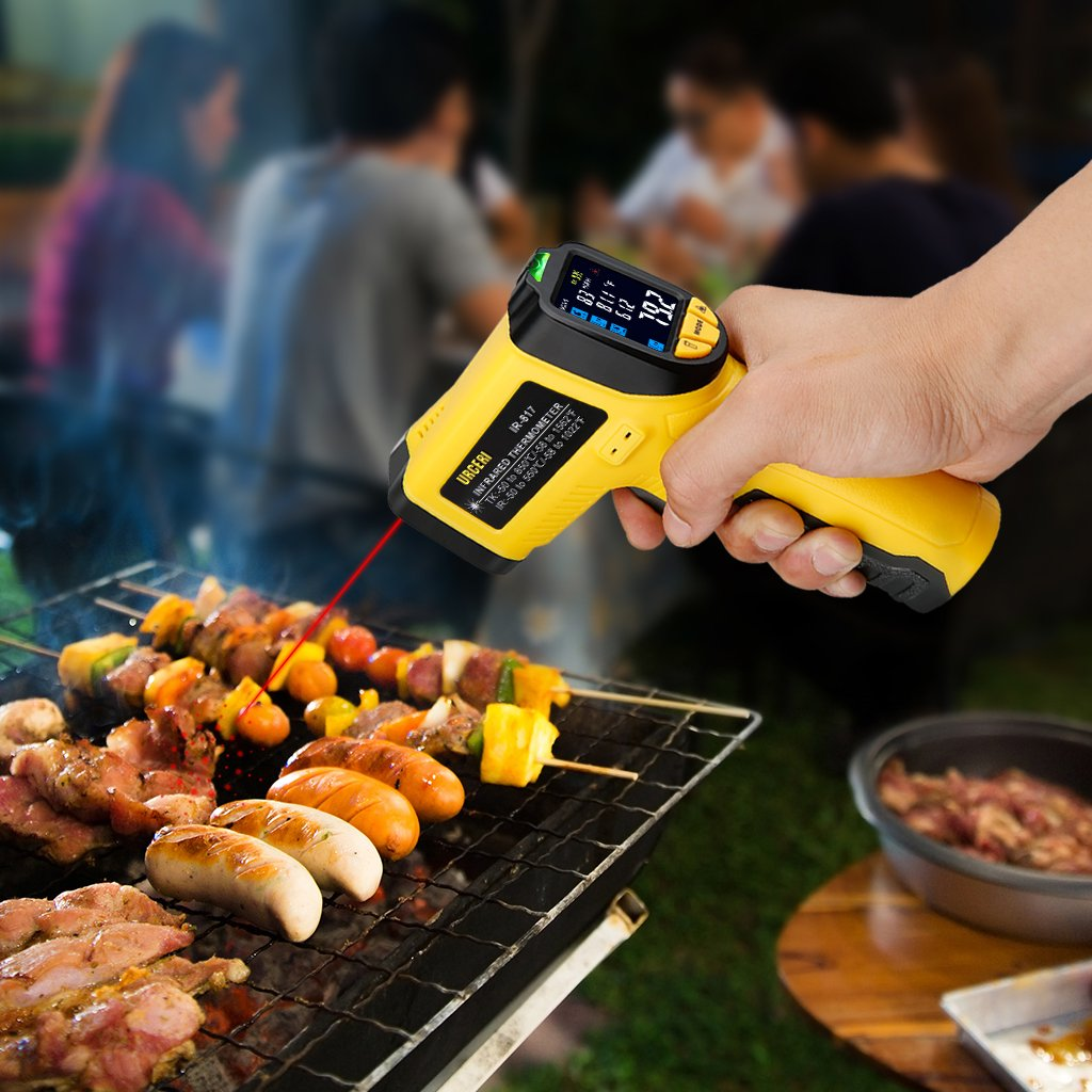 URCERI Infrared Thermometer IR-817-58°F~1022°F (-50°C~550°C) Digital IR Temperature Gun Non Contact Laser with Color Display K-Type Thermocouple for Cooking Kitchen Food Meat Grill by URCERI (Image #5)