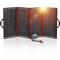 DOKIO Kit Panel Solar Plegable 300w 12v monocristalino portátil, plegable, imermeable,ideal para la energía solar al aire libre, embarcaciones, camping, caravanas o autocaravanas.para batería de 12 V