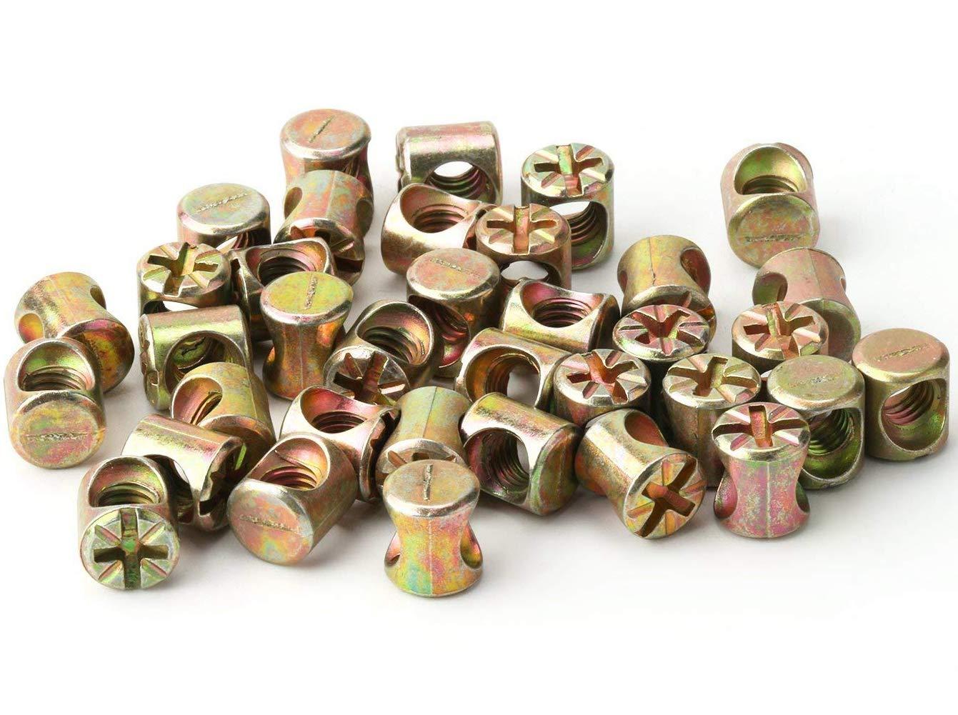 Juego de 100 tuercas de tornillo M6 para muebles juego de tornillos y tuercas hexagonales cunas y sillas