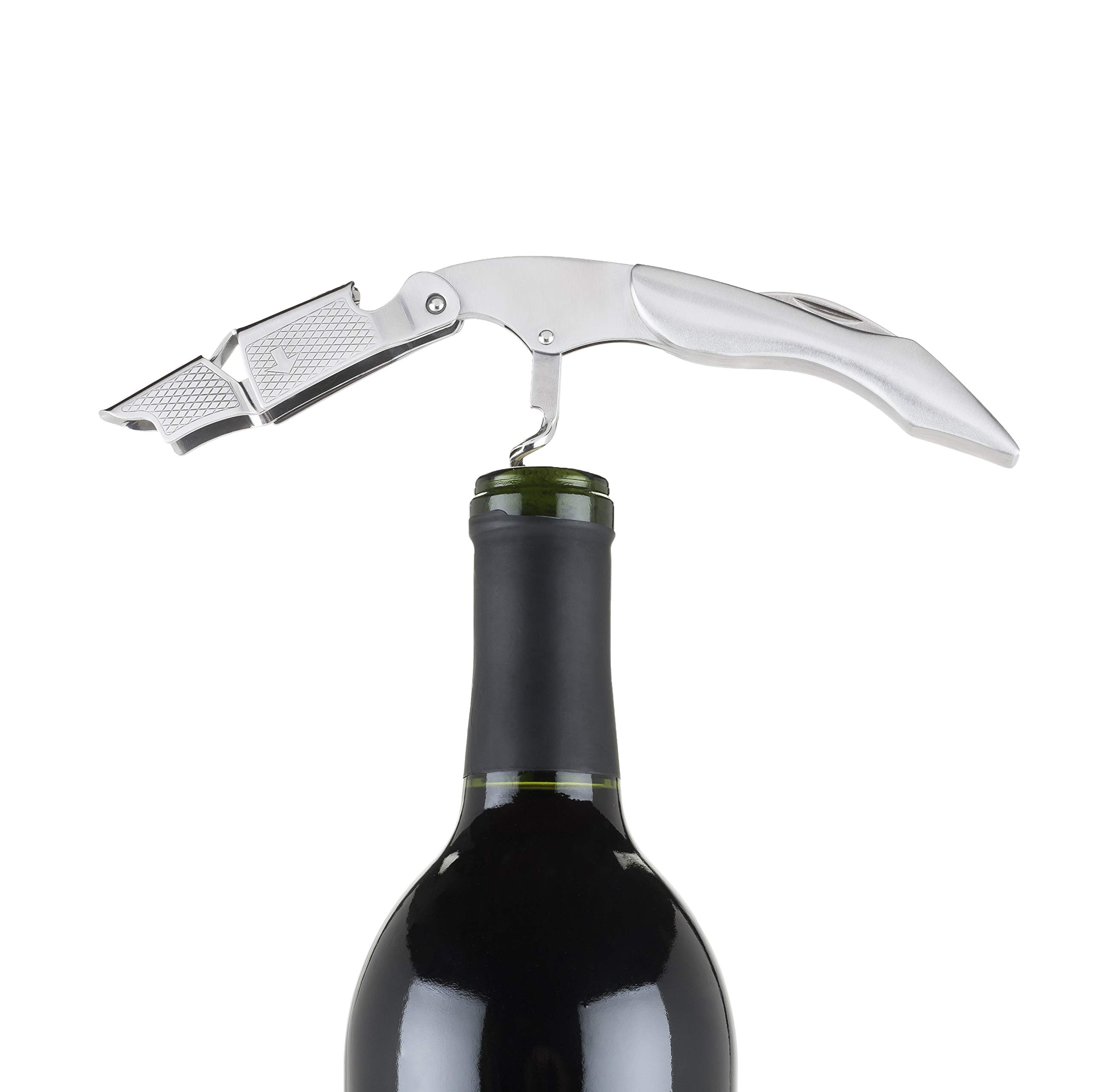 Corkscrew Wine, Straight Edge Foil Cutter Waiters Pulltap Corkscrews (Sold by Case, Pack of 12)