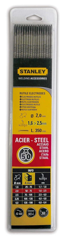 Stanley 460820 - Electrodos para soldadura (50 unidades, 2 mm de diá metro) 2 mm de diámetro)