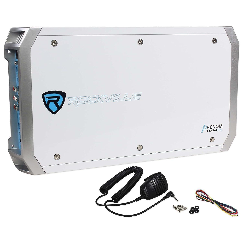 PA Microphone RXM-S6 Rockville Marine//Boat 2600 Watt 6 Channel Amplifier