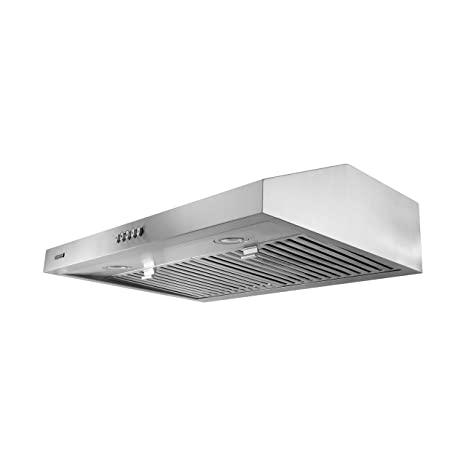 VESTA 30 Inch Stainless Steel Range Hoods Under Cabinet 500 CFM 3 Way Duct  Vent Dishwasher