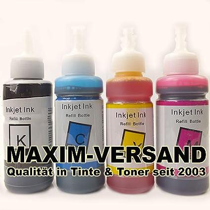 Juego de 4 Botellas de Tinta para Epson 664 con T6641, T6642 ...