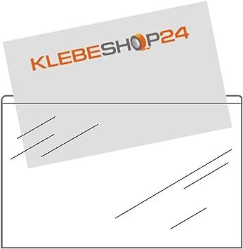 Visitenkarten Hüllen Selbstkl.-Taschen 95 x 60 mm glasklar