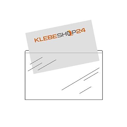Visitenkartentaschen Selbstklebend Breite Seite Offen Transparent 20 Oder 100 Stück 95 X 60 Mm Visitenkartenhüllen Zum Einkleben