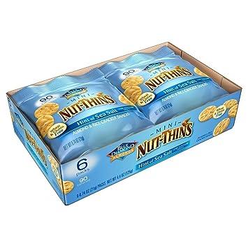 Amazoncom Blue Diamond Mini Nut Thins Hint Of Sea Salt One 6 Pack