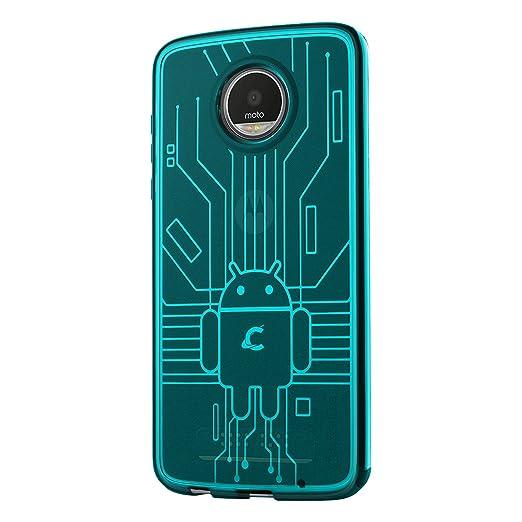 4 opinioni per Cruzerlite Moto Z2 Play Custodia, Bugdroid Circuit TPU Custodia for Motorola