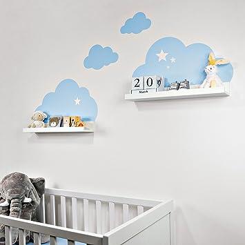 Wandtattoo Wolken In Blau Mit Sterne Fur Ikea Regalbrett Ribba