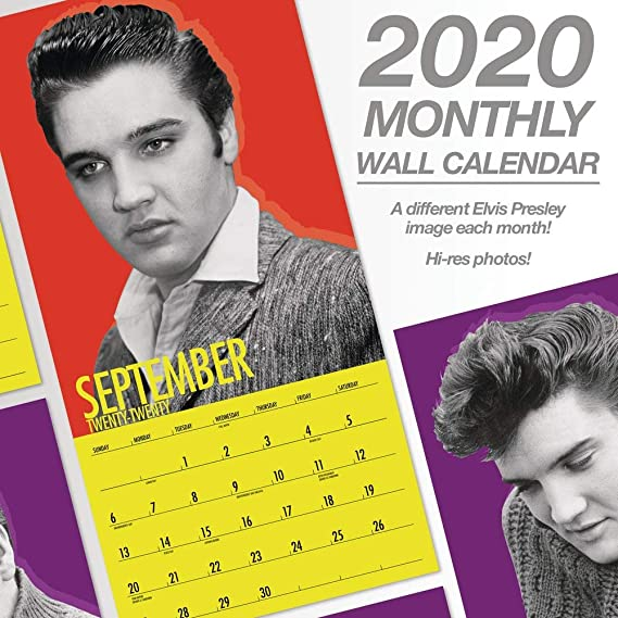 Elvis Calendar 2020 Amazon.: 2020 Elvis Presley Wall Calendar (DDD3732820