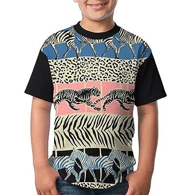 BDS1YO Youth Short Sleeved T - Shirt Printing Logoanimal World Round Neck Cotton T-Shirt Boys Tee