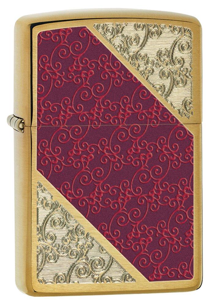 ZIPPO(ジッポー) Luxury 3 Brush (ラグジュアリー 3 ブラッシュ) ライター 日本未発売 28377 Brushed Brass Stripes [並行輸入品] B008ROBA4G