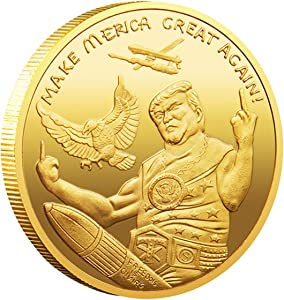 Donald Trump Coin 2020 - Gold Plated Collectible Coin, Protective Case Included - Re-Election Gift, Trump 2020 Make Liberals Cry Again !