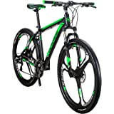 YH-X9 Mountain Bike Aluminum Frame 29 Inch Wheels 21 Speed Shifter Dual Disc Brakes Front Suspension 29er Mens Bicycle (Green
