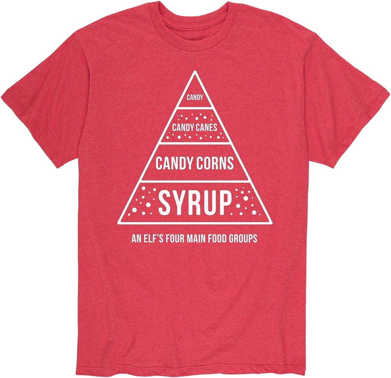 Elf Food Pyramid - Men's Short Sleeve Graphic T-Shirt