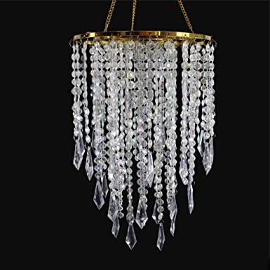 SUNLI HOUSE Modern Mini Chandelier Shade,Chandelier Light Fixture Sparkling Decorations for Wedding Centerpiece,Special Events,Bedroom,Cloakroom,Dinning Room,Bathroom