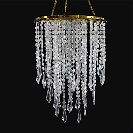 Amazon sunli house wedding chandelier centerpieces acrylic sunli house wedding chandelier centerpieces acrylic beaded iridescent with gold frame drop 129 inches aloadofball Image collections