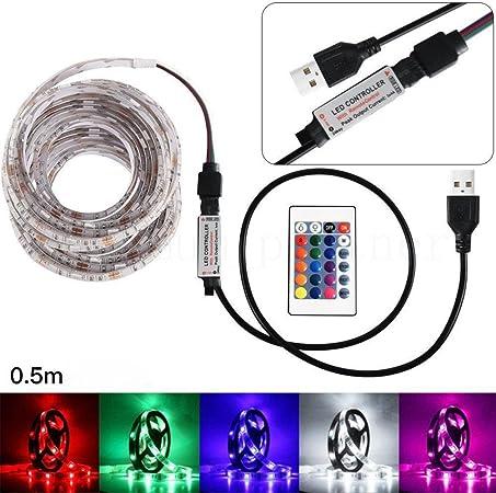 50//100CM Flexible RGB LED Case Strip Light For PC Computer Decor 5V Waterproof