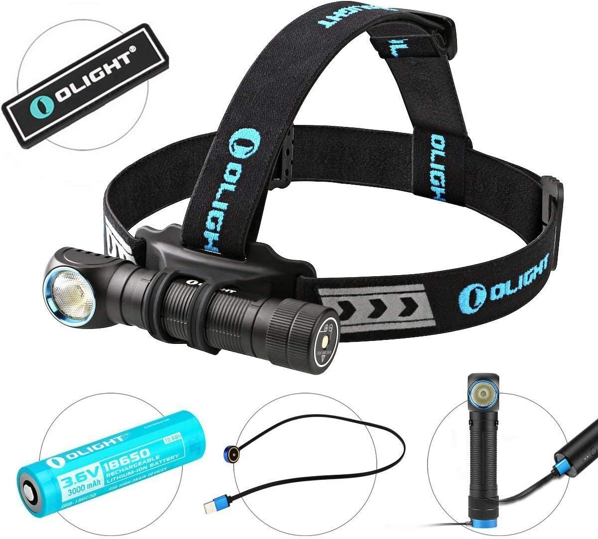 OLight H2R Cree LED Rechargeable Headlamp}