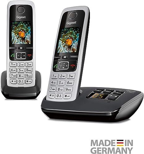Gigaset C430A Duo - Teléfono inalámbrico (DECT, 50 m, 300 m, 200 entradas) Negro: Amazon.es: Electrónica