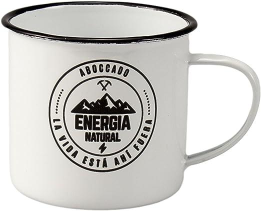 Juego de 4 Tazas Mug vintage esmaltadas para caf/é//t/é//infusiones.