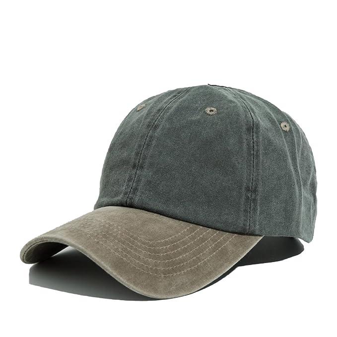 cab8f85581f HBBCEED Men Women Snapback Caps Baseball Cap Dad Hats Plain Bones 100%  Cotton Washed Blank Vintage Sun Hat at Amazon Men s Clothing store