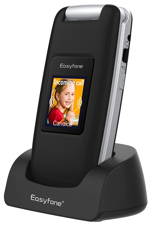 Easyfone Prime A1 3G Flip Teléfono para Personas Mayores, Audífonos...