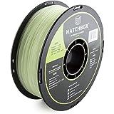HATCHBOX 3D ABS-1KG1.75-GLOW ABS 3D Printer Filament, Dimensional Accuracy +/- 0.05 mm, 1 kg Spool, 1.75 mm, Glow in the Dark