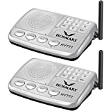 Wireless Intercom System Hosmart 1/2 Mile LONG RANGE 7-Channel Security Wireless Intercom System for Home or Office (2018 New Vesion)(2 Stations Silver)