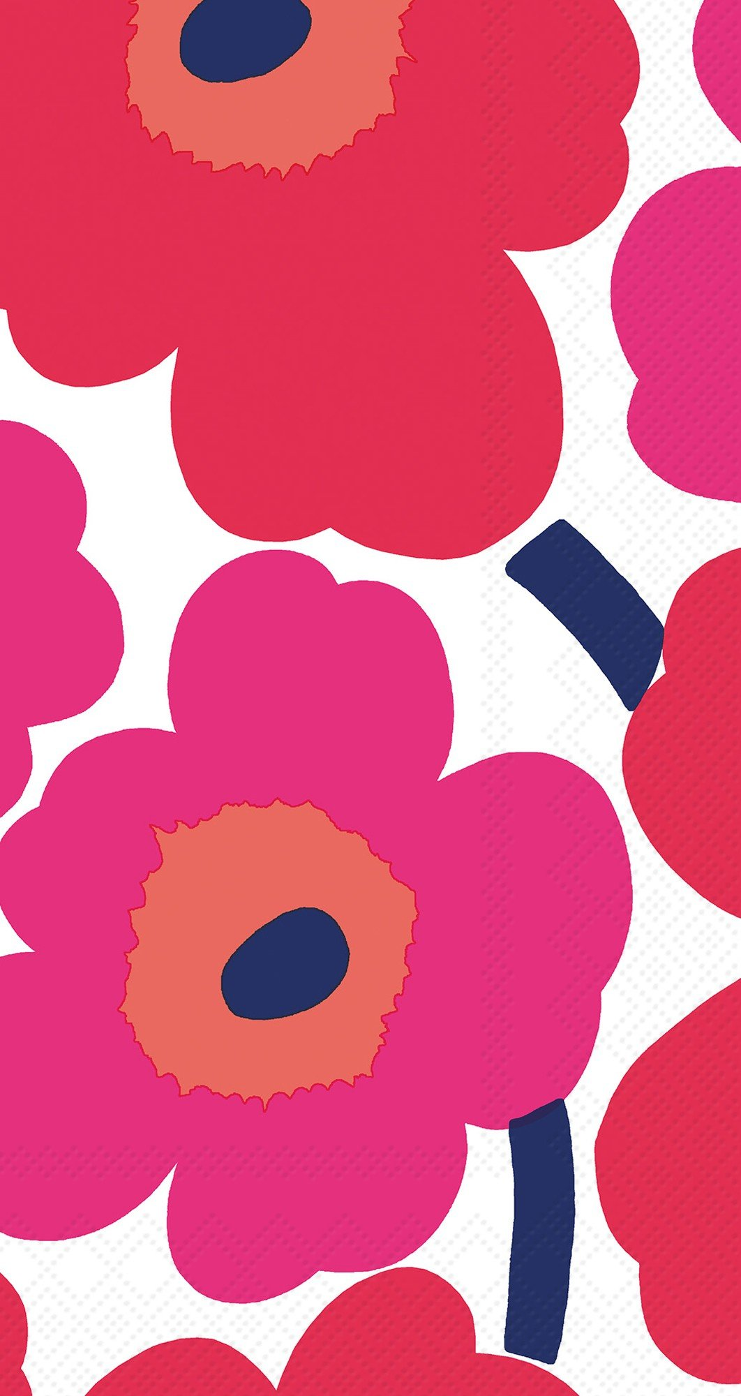Ideal Home Range 32 Count 3-Ply Paper Guest Towel Napkins, Marimekko Collection (Unikko Red)