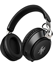 Bluetooth Headphones, Wireless Over Ear Hi-Fi Stereo Headset with Noise Cancelling Microphone, 40mm Driver, Supports Hands-Free Calling and Wired Mode for PC/Cell Phones/TV - Black