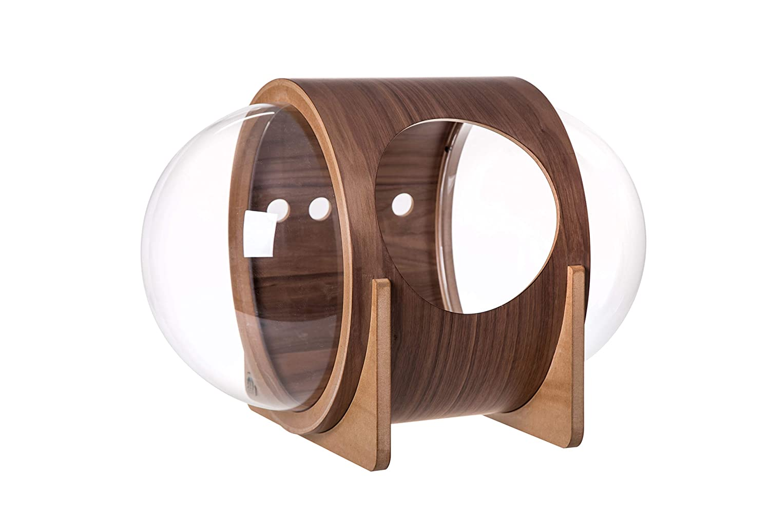 Walnut MYZOO Spaceship Alpha, Warm and Cozy Pet Bed for Cat & Dog, Designed Furniture, Made of Wood (Walnut)