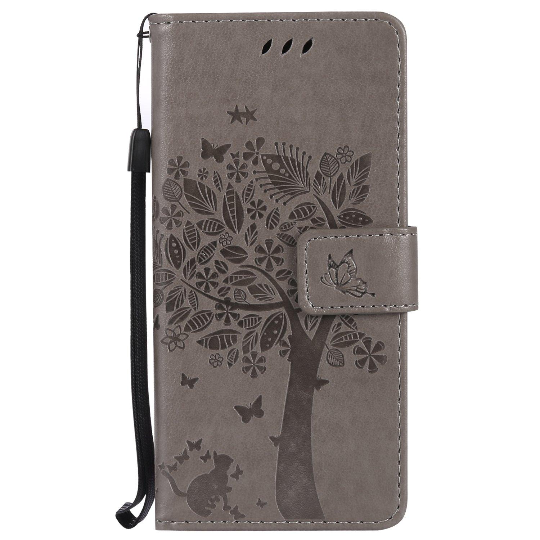 Samsung Galaxy S8 / G950 Cover, Docrax Custodia Portafoglio in Pelle Porta Carta di Credito con Funzione di Supporto di Stand Antiurto Flip Cover a Libro per Samsung Galaxy S8 - DOKTU41377 Nero