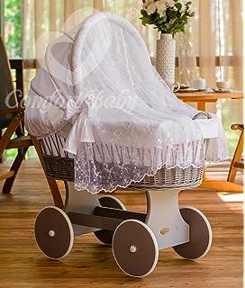 Das Beste Waldin Baby Bollerwagen,stubenwagen Weiß Lassen Sie Unsere Waren In Die Welt Gehen Komplett Mit Zubehör Xxl Neu !!